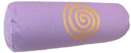 "Flieder ""Spirale"" Designer Yoga Bolster Rolle"