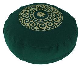 "Designer Meditationskissen Gr.S ""Mandala"" dunkelgrün"