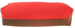 Yoga Bolster eckig  rot + braun