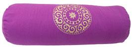 """""""Mandala"""" rotviolett Designer Yoga Bolster Rolle"""