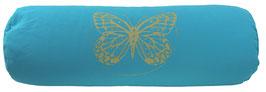 """""""Butterfly"""" türkis Designer Yoga Bolster Rolle"""
