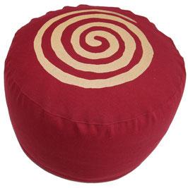 """Spirale bordaux"" Designer Meditationskissen Gr.M"