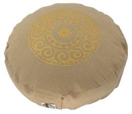 """Designer Meditationskissen Gr.S """"Mandala"""" beige"""