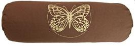 """""""Butterfly"""" braun Designer Yoga Bolster Rolle"""