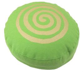 "Designer Meditationskissen Gr.S ""Spirale"" apfel"