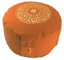 "Designer Meditationskissen Gr.L ""Mandala"" terracotta"