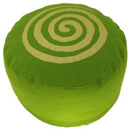 """Spirale"" kiwi  Designer Meditationskissen Gr.M"