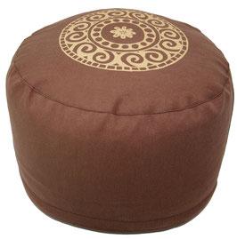 """Designer Meditationskissen Gr.L """"Mandala"""" braun"""