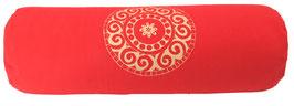 """""""Mandala"""" rot Designer Yoga Bolster Rolle"""