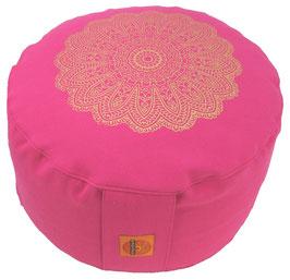 """Madras Blüte "" pink Designer Meditationskissen Gr.M"