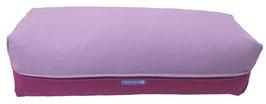 Yoga Bolster eckig flieder + rotviolett