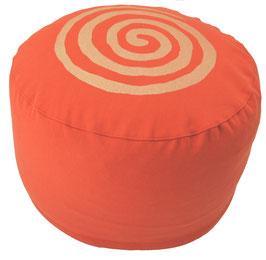 "Designer Meditationskissen Gr.L ""Spirale"" dunkelorange"