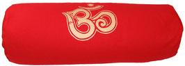 """""""OM"""" rot Designer Yoga Bolster Rolle"""