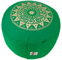 """""""Ur-Mandala Variation"""" grasgrün Designer Meditationskissen Gr.M"""