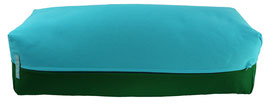 Yoga Bolster eckig  türkis + dunkelgrün