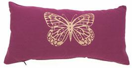 """""""Butterfly"""" aubergine Designer Yoga-Universal-Genie Kissen"""