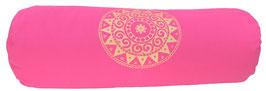 """""""Ur-Mandala Variation"""" pink Designer Yoga Bolster Rolle"""