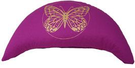 """Designer Halbmond Meditationskissen """"Butterfly"""" rotviolett"""
