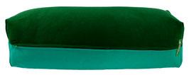 Yoga Bolster eckig dunkelgrün + seegrün
