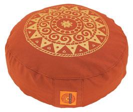 "Designer Meditationskissen Gr.S ""Ur-Mandala Variation"" terracotta"