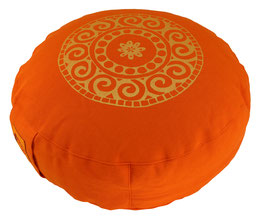 "Designer Meditationskissen Gr.S ""Mandala"" orange"