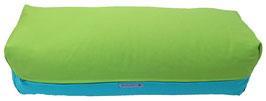 Yoga Bolster eckig apfelgrün + türkis