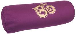 """""""OM"""" aubergine Designer Yoga Bolster Rolle"""