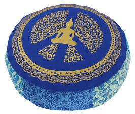 """Blauphase"" Designer Meditationskissen Yogakissen Gr.S"