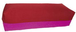 Yoga Bolster eckig bordeaux + rotviolett