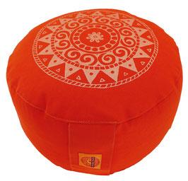"""""""Ur-Mandala Variation rot"""" Designer Meditationskissen Gr.M"""