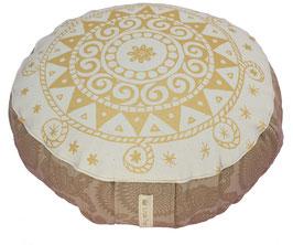 """""""White Cocoa Ur-Mandala"""" Designer Meditationskissen Yogakissen Gr.S"""