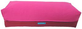 Yoga Bolster eckig pink + bordeaux