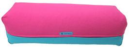 Yoga Bolster eckig pink + türkis
