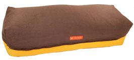 Yoga Bolster eckig braun + sonne