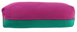 Yoga Bolster eckig  rotviolett + seegrün