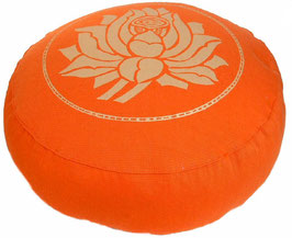 "Designer Meditationskissen Gr.S ""Lotus"" orange"