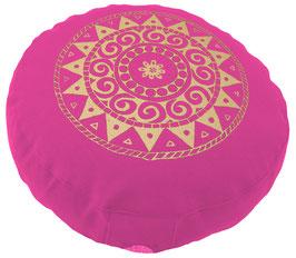 """Designer Meditationskissen Gr.S """"Ur-Mandala Variation"""" pink"""