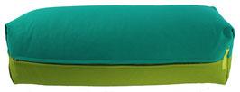 Yoga Bolster eckig seegrün + kiwi