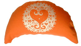 "Designer Halbmond Meditationskissen ""Kismet"" orange"