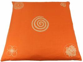 """Designer Meditations-Matte / Zabuton """"orange Spirale"""""""