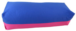 Yoga Bolster eckig  royal + pink