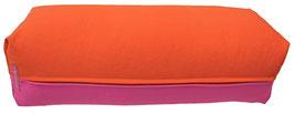 Yoga Bolster eckig dunkelorange + pink
