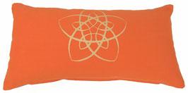 """""""Energie-Stern"""" orange Designer Yoga-Universal-Genie Kissen"""
