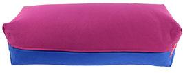 Yoga Bolster eckig  rotviolett + royal