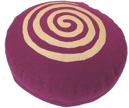 """Designer Meditationskissen Gr.S """"Spirale"""" aubergine"""