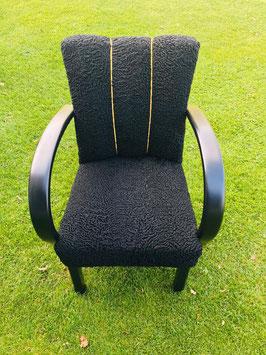 Sitzmöbel schwarz – Vintage-Stuhl im Persianermantel