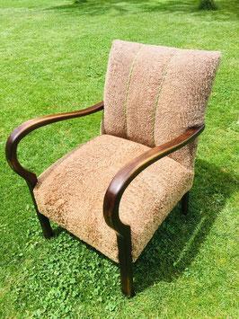 Sitzmöbel braun – Vintage-Stuhl im Persianermantel