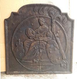 ID 178 - Justitia sitzend mit Bourbonenwappen Fleurs de Lys - Justitia with Coat of Arms of Bourbon