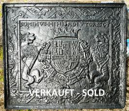 "Wappen Philipp III von Spanien 1578 - 1621 "" DOMINVS MIHI ADIVTOR 1608 """