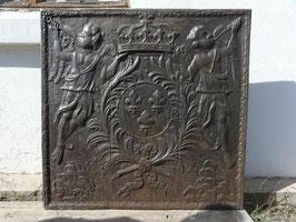 ID 97 - Bourbonenwappen - Fleur de lys - Armes de France - Posaunen Engel - Coat of arms of the French royal house of BourbonProduktname